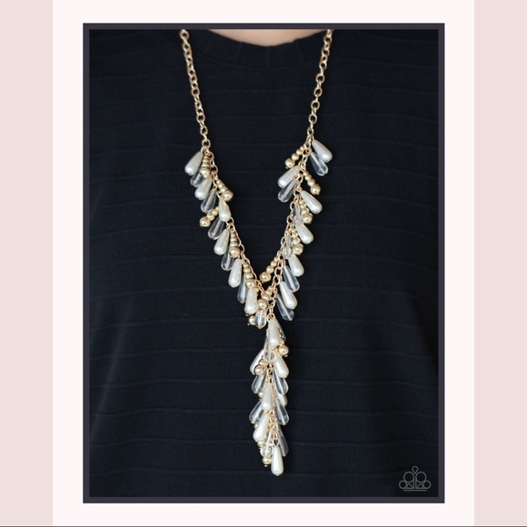Dripping with DIVA-ttitude Gold Necklace